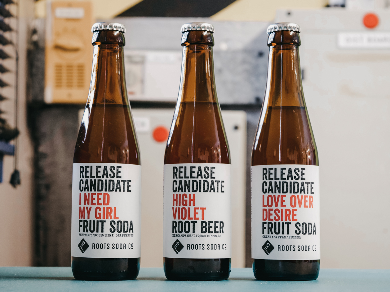 Roots Soda Co. prototype flavours.